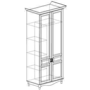 ПРОВАНС 401 Шкаф 2-дверный (Сосна белая)