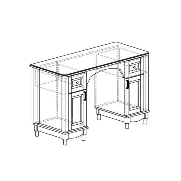 410 600x600 - ПРОВАНС 410 Стол (Сосна белая)