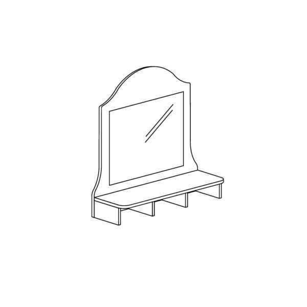 412 600x600 - ПРОВАНС 412 Надставка комода (Сосна белая)