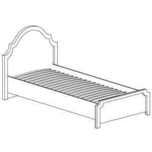 ПРОВАНС 414 Кровать одинарная 90*200 (Сосна белая)