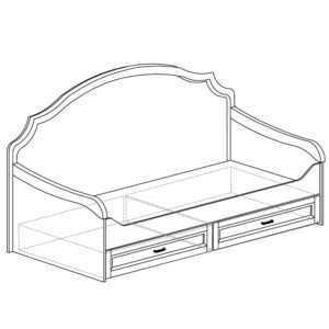 ПРОВАНС 415 Кровать 1-спальная с ящиками (Сосна белая)