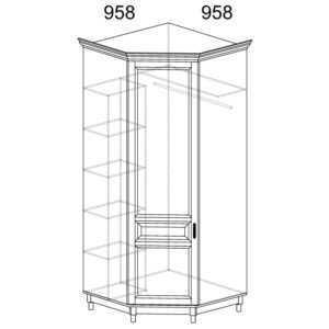 ПРОВАНС 418 Шкаф угловой (Сосна белая)