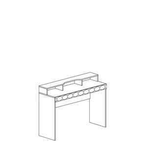 74 shema 300x300 - ДЕЛИ 74 Стол туалетный (дуб эндгрейн/антрацит)