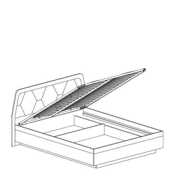 77 shema 1 600x600 - ДЕЛИ 77 Кровать 160х200 с подъемным механизмом (дуб эндгрейн/антрацит)