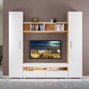 alba interer 2 300x300 - АЛЬБА Тумба под ТВ (дуб крафт золотой/белый премиум)
