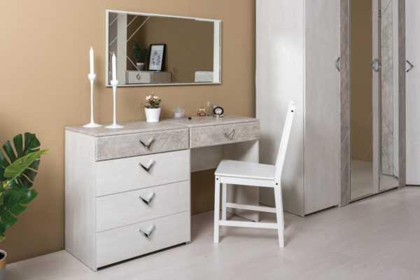 ameli int tualetnyy stol komod zerkalo 600x400 - Стол туалетный АМЕЛИ 112.48 (шелковый камень/бетон чикаго беж)