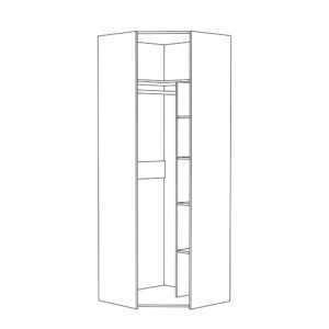ameli shkaf dlya odezhdy 13.131  shem 300x300 - АМЕЛИ 13.131 Шкаф для одежды угловой(шелковый камень/бетон чикаго беж)