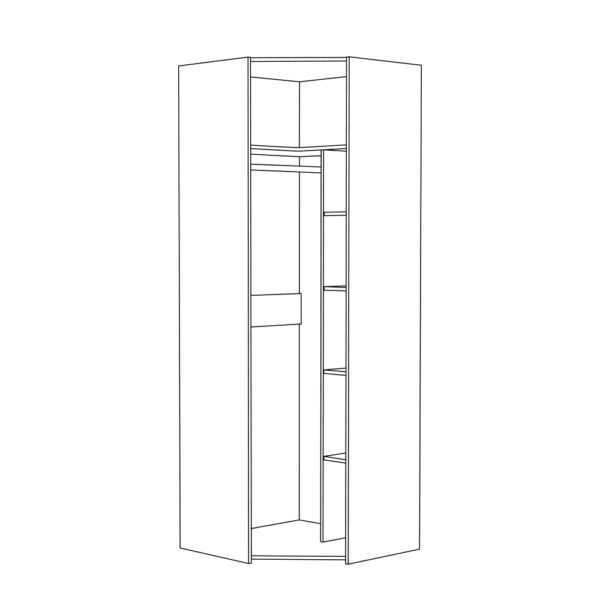 АМЕЛИ 13.131 Шкаф для одежды (шелковый камень/бетон чикаго беж)