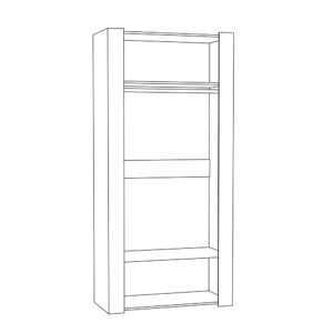 АМЕЛИ 13.133 Шкаф для одежды (шелковый камень/бетон чикаго беж)