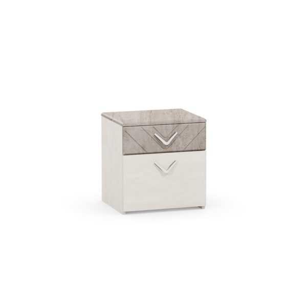 АМЕЛИ 13.78 Тумба прикроватная (шелковый камень/бетон чикаго беж)
