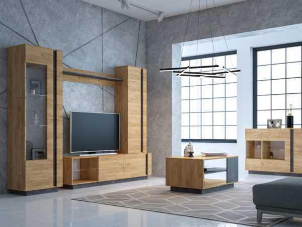 archi interer 1 600x450 - АРЧИ 10.05 Шкаф комбинированный (дуб крафт золотой/камень темный)
