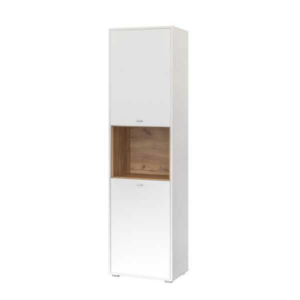 БЭЛЬ 10.04 Шкаф комбинированный (дуб крафт золотой/белый премиум)