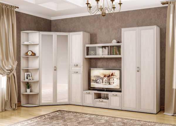 byanka interer 2 600x430 - БЬЯНКА 1751 Шкаф для одежды (ясень анкор светлый)