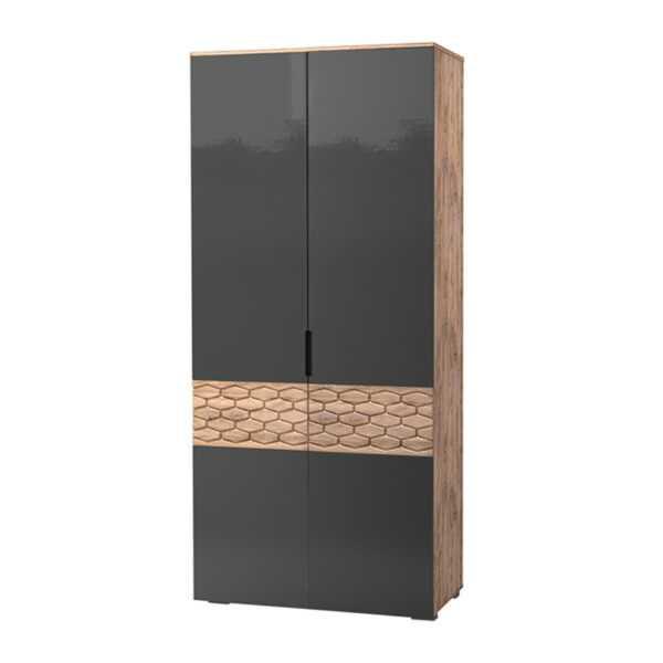 deli 70 600x600 - ДЕЛИ 70 Шкаф 2-х дверный (дуб эндгрейн/антрацит)
