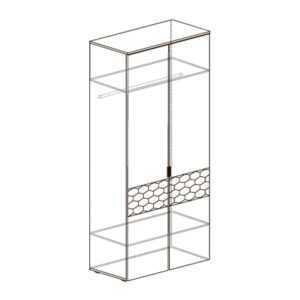 ДЕЛИ 70 Шкаф 2-х дверный (дуб эндгрейн/антрацит)