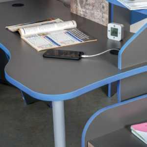 ИНДИГО 12.61 Стол компьютерный (темно-серый/граффити)