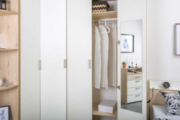 dsc5774 600x400 - ВЕСТА 13.130 Шкаф для одежды (гаскон пайн светлый/белый шагрень)
