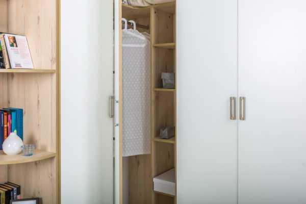 dsc5779 600x400 - ВЕСТА 13.130 Шкаф для одежды (гаскон пайн светлый/белый шагрень)