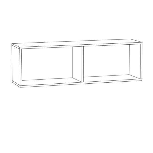 ГРИНВИЧ 08.117 Шкаф навесной 2 двери(орех селект каминный/белый премиум)