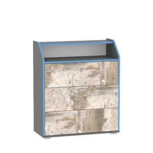 indigo komod 13.119 300x300 - ИНДИГО 13.119 Комод (темно-серый/граффити)