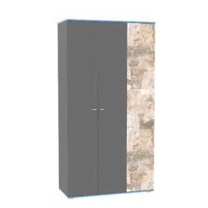 indigo shkaf kombinirovannyy 13.06 300x300 - ИНДИГО 13.06 Шкаф комбинированный (темно-серый/граффити)