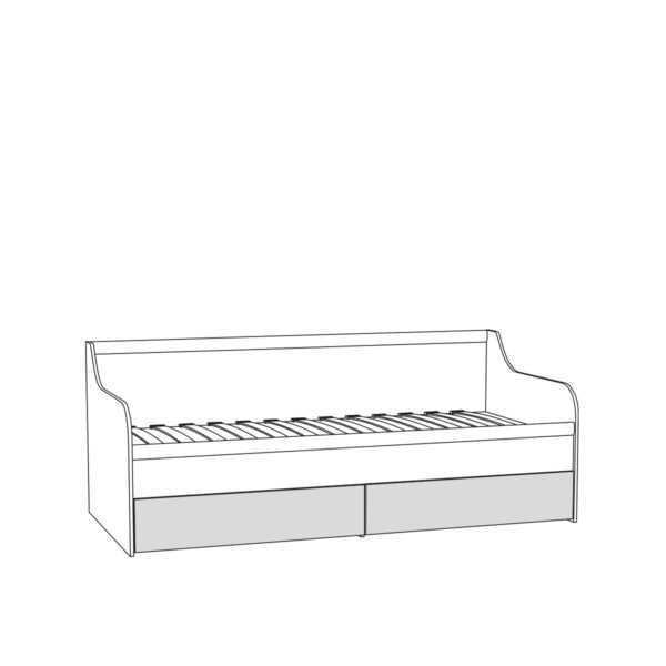 Кровать МАДЭРА 11.18 90х200 (венге каштан)