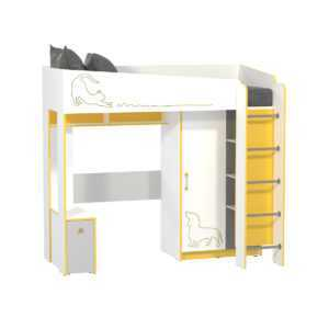 АЛЬФА 11.20 Кровать-чердак со шкафом (солнечный свет)