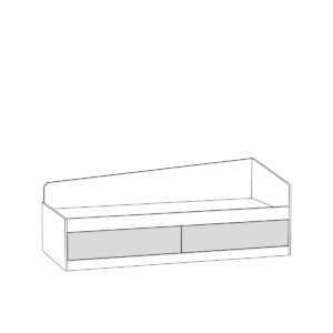 krovat 11.21 alfa  shem 300x300 - АЛЬФА 11.21 Кровать 80х190 см с ящиками (солнечный свет)