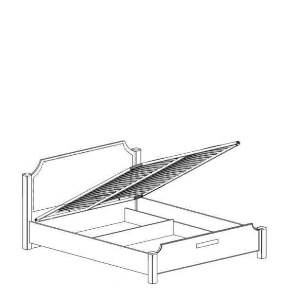 krovat 455 600x600 - АДЕЛЬ 455 Кровать 160х200  с подъемным механизмом (ясень белый)