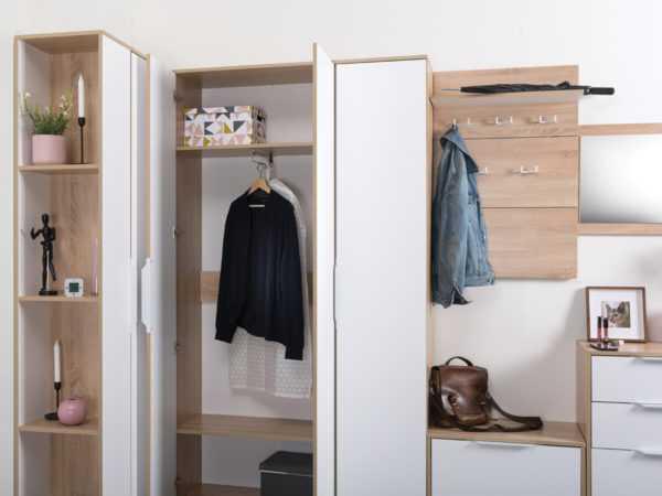 КУБА 13.137 Шкаф для одежды (дуб сонома)