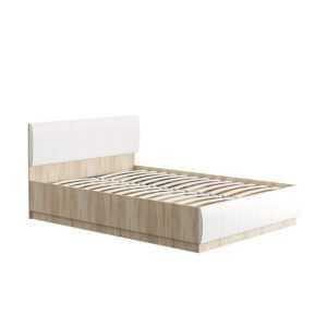ЛИНДА 303 Кровать двойная 140х200 с п/мех (дуб сонома/белый)