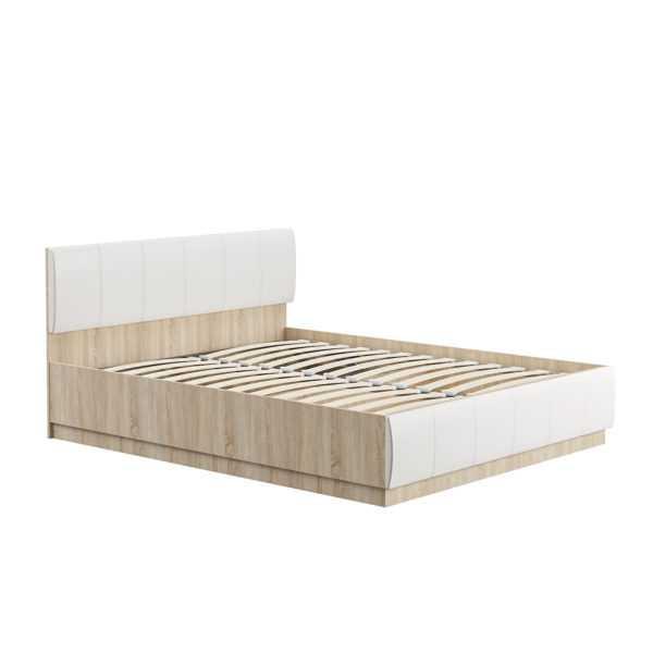 Кровать ЛИНДА 303 160х200 (дуб сонома/белый)