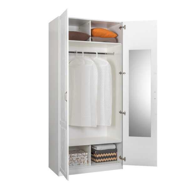 ЛИВЕРПУЛЬ 13.134 Шкаф для одежды комбинированный (белый/ясень ваниль)
