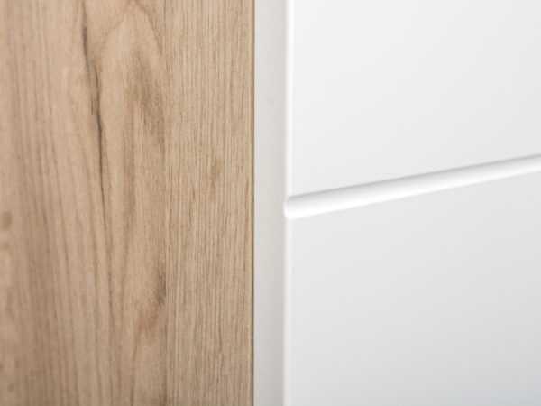 prihozhaya 13 600x450 - ЛАЙН 08.122 Шкаф для одежды (дуб крафт серый/белый глянец)