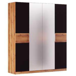 Рамона шкаф четырехдверный (дуб кельтский/ черный)