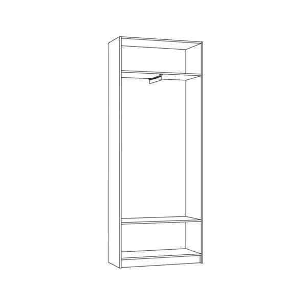 МАДЭРА 13.40 Шкаф 2-х дверный (венге каштан)