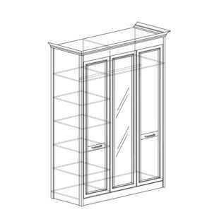 shkaf 453 300x300 - АДЕЛЬ 453 Шкаф 3-дверный со стеклом (ясень белый)