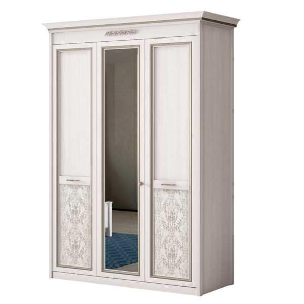 shkaf 453 5e7457e5d775b 600x600 - АДЕЛЬ 453 Шкаф 3-дверный со стеклом (ясень белый)