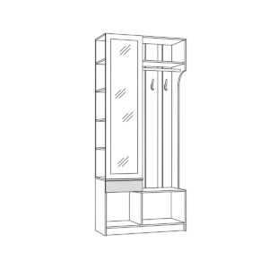 МАДЭРА 10.15 Шкаф комбинированный  (венге каштан)