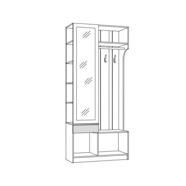 shkaf kombinirovannyy 10.15 madera  shem 600x600 - МАДЭРА 10.15 Шкаф комбинированный (венге каштан)