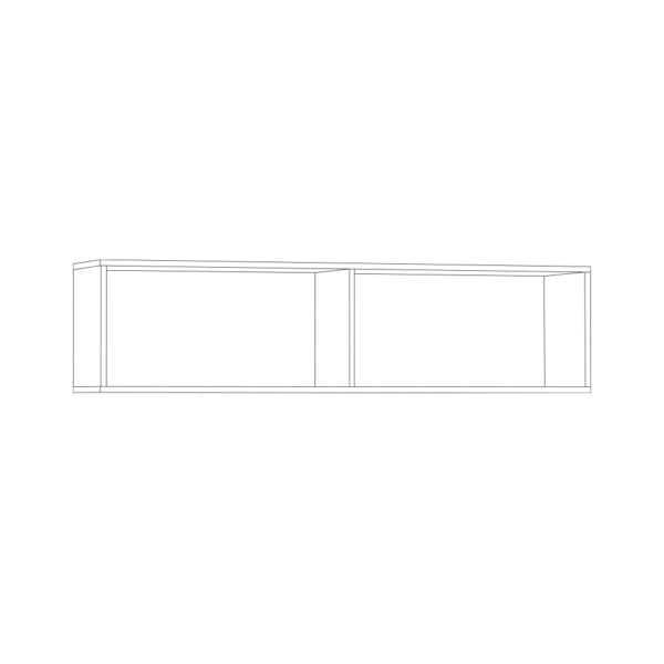 ЛИВЕРПУЛЬ Шкаф навесной (белый/ясень ваниль)