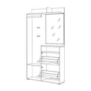 ТЕМПО 10.13 Шкаф комбинированный (дуб винтаж оксид/шёлковый камень)