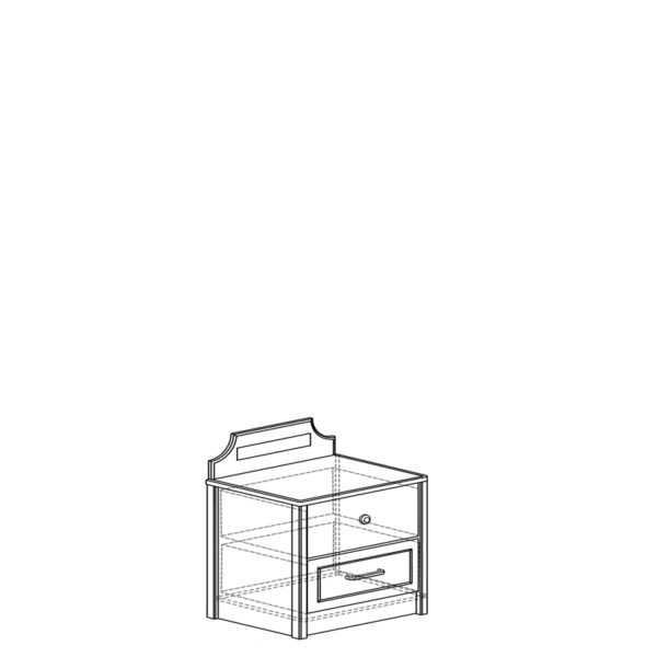 tumba 451 600x600 - АДЕЛЬ 451 Тумба прикроватная (ясень белый)