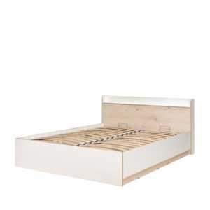 Кровать ВЕСТА 11.13 160х200 с п/механизмом (гаскон пайн светлый/белый шагрень)