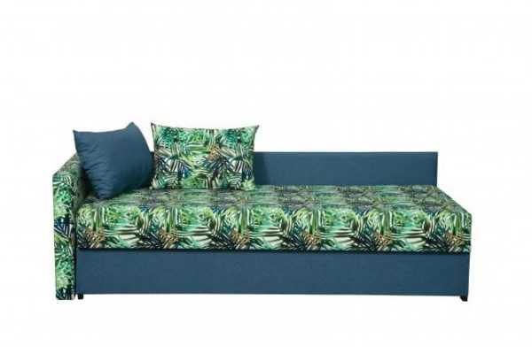 """1c6a4762 600x400 - Диван - кровать """"Мальта"""" (микровелюр мегаполис деним / велюр текстура синий)"""