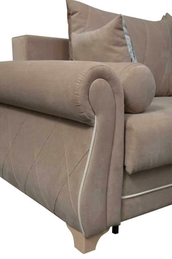 "1c6a4832 600x900 - Диван - кровать ""ЕвроПорто"" (велюр текстура латте)"