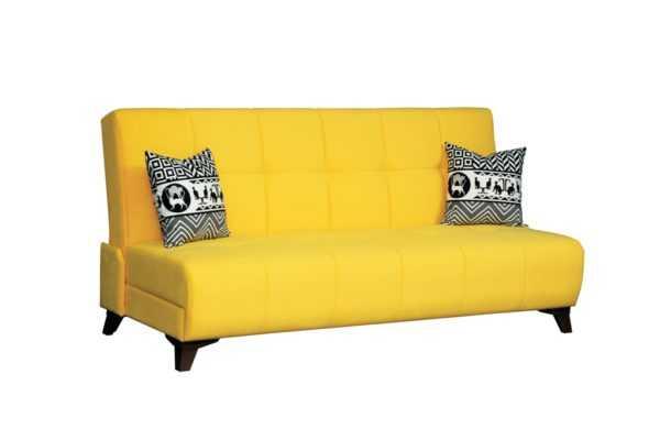 """1c6a8961 600x400 - Диван - кровать """"Лофт"""" (микровелюр желтый)"""