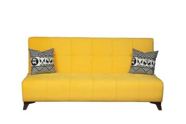 """1c6a8963 600x400 - Диван - кровать """"Лофт"""" (микровелюр желтый)"""