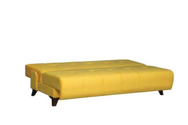 """1c6a8966 600x400 - Диван - кровать """"Лофт"""" (микровелюр желтый)"""