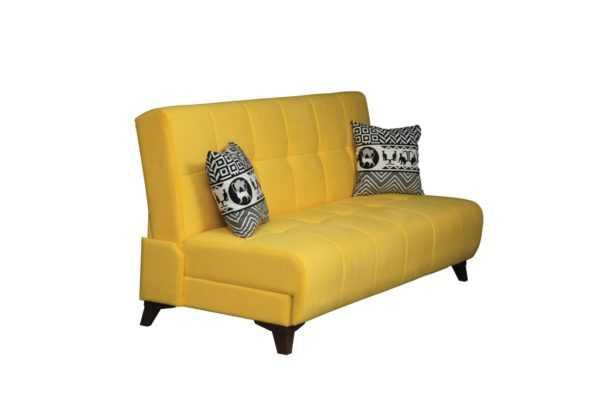 """1c6a8972 600x400 - Диван - кровать """"Лофт"""" (микровелюр желтый)"""